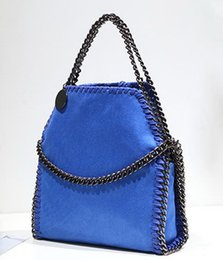 folding designer handbags Canada - New designer chain folded single shoulder messenger handbag lady fashion evening bag women popular casual purse blue black orange grey no190