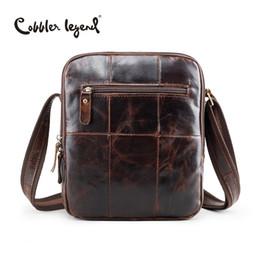 cc29dcd398 Wholesale- Cobbler Legend Brand New Men s Genuine Leather Vintage Style Bag  Male Crossbody Bags Real Leather Shoulder Bag For Men Handbag