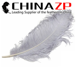 Make Feathers Canada - Made in CHINAZP Factory 45~50cm(18~20inch) Length Selected Prime Quality Dyed Silver Ostrich Feather Wedding Centerpieces