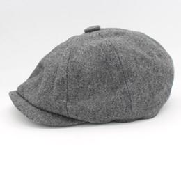 Wholesale-David Beckham Same Design Male Beret Fashion Gorras Planas Solid  Boina Wool Beret For Men Hats Casual Octagonal Cap HT51095+15 1078b1236c49