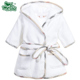 Boy wearing pajamas online shopping - Children pajamas Robe new boys girls bathrobes children baby pajamas Home Wear Baby Bathrobe Cartoon infant bath towel