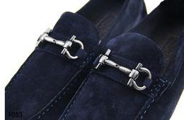 Office dress suits online shopping - 2019 New Designer male casual flats shoe cowhide leather Slip on Mocassin Metal Button men s suit shoe Zapatillas