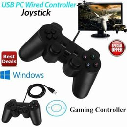 windows computer games Canada - Wholesale- USB Wired Game Controller Gamepad Gaming Joypad Joystick Control for XP Windows PC Computer Laptop Black freeshipping