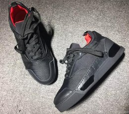 Cheap Leisure Shoes For Men Canada - drop shipping new 2018 Cheap red bottom sneakers for men with Spikes black suede fashion casual mens shoes , men sneakers leisure trainer fo