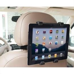 Discount tablet stands for cars - Wholesale- car universal Car Back Seat Headrest Mount Holder Stand Stents for iPad Tablet PC Android tablet Stands