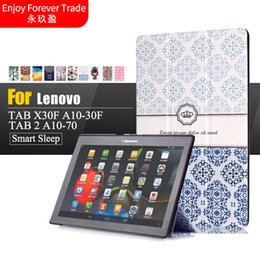 7 inch tablet case 2018 - Wholesale- Case For Lenovo Tab 2 A10-70F L Tablet Cover 10.1 inch Painted Stand Flip For Lenovo A10-30 X30F  tab3 10 bus