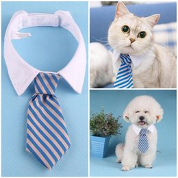 dog tuxedos NZ - New Adjustable Pets Dog Cat Formal Neck Tie Tuxedo Bow Tie Little Cartoon Printed Twill Tie Cat Neckties Dog Grooming Supplies