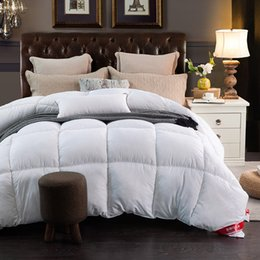 new pure cotton down comforter thicken winter down quilt queen king size pink white color - Down Comforter Sale
