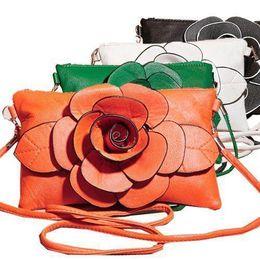 $enCountryForm.capitalKeyWord Canada - Nice- Pop FASHION Floral Decor Women Small Messengers Cross Body Bag PU Leather Big Rose Flower Handbag Pop Tideing