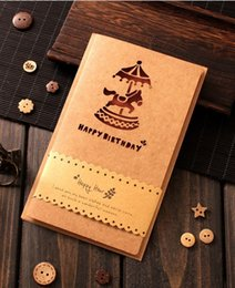 Christmas Cards Invitations Canada - Customized Invitation Creative kraft paper greeting CARDS Retro laser hollow out Business gifts message birthday Holiday Business CARDS