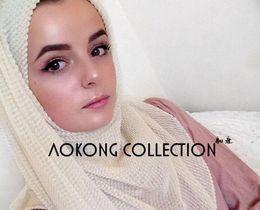 $enCountryForm.capitalKeyWord NZ - wholesale 20 color Hijab Scarves Muslim Head Scarf Arab Islamic Head Wear Hat Cotton and linen Women's Shawls Headband