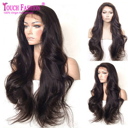 Long White Blonde Front Lace Wig NZ - Cheap 16-28inch Stock #1b #2 #4 blonde burgundy super Wave Synthetic Lace Front Wig Heat Resistant Long Wavy Hair Wigs For african american