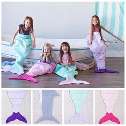 $enCountryForm.capitalKeyWord Canada - Kids Mermaid Blankets Shark Blanket Mermaid Tail Sleeping Bag Sofa Nap Air Condition Blankets Mermaid Cocoon Mattress Bedroom Blankets F149