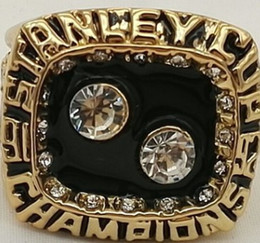 Pittsburgh Rings NZ - Men fashion sports jewelry 1992 Pittsburgh Pen guins championship ring fans souvenir gift