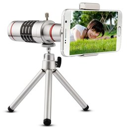 Mini Telescope Mobile Canada - Universal 18X Zoom Mobile Phone Optical Camera Telephoto Lens Telescope With Mini Mount Tripod For iPhone For Samsung Smartphone
