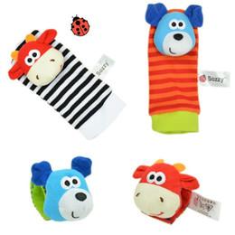 Ring socks online shopping - Baby Wrist Band Sozzy Cute Animal Watch Belt With Rattling Ringing Socks Belts Newborns Toy Fiber Cotton Plush Material xx I1