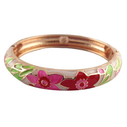 $enCountryForm.capitalKeyWord NZ - Cloisonne Bracelet Elegant flower zinc alloy Bangles unique Accessories nation style love Jewelry Valentines Day Gifts for women P101