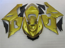 Chinese  Bodywork Fairing kit for Kawasaki Ninja ZX6R 2005 2006 gold black fairings set ZX6R 05 06 OT06 manufacturers