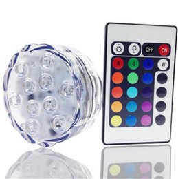 Waterproof Remote Control Light Switch Australia - cheap Wedding Table decoration LED Battery light Waterproof 5050 SMD 10 LED Submersible Light With Remote Control led candle light Candelier