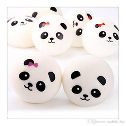 Squishy Charms Wholesale Australia - Kawaii Panda Squishies Slow Rising Jumbo Panda Squishy Charm Panda Bread Keychains Squishy Toys Phone Straps Charms