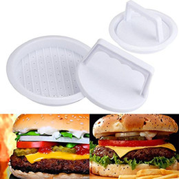 hamburger tool NZ - Innovative Kitchenware Mini Hamburger Meat Maker Mold Round Plastic Patties Make Mould Kitchen Dining Bar Tool