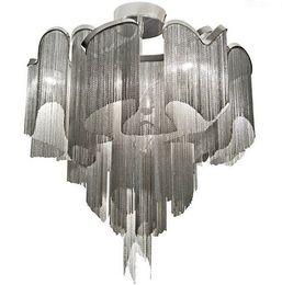 $enCountryForm.capitalKeyWord UK - Aluminum Chain Ceiling Light Modern Italy Ceiling Lamp Luxury Hotel Tassels Celing Light Dinning Room Living Room Lamp LLFA