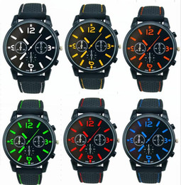 596b93ab8 Aviator Watches Canada - 200pcs lot Mix 6Colors Men Causal SPORT Military  Pilot Aviator Army Silicone