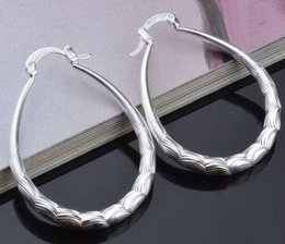 Discount sterling silver flower earring hooks - New 2017 jewelry op quality Popular Party jewelry 925 Sterling Silver fashion jewelry Lady girl U style hook retro prett