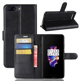 Oneplus Wallet Canada - Flip Cover for Oneplus 5 , TPU Soft Case+PU Leather Wallet Stand Case Cover with Card Slot