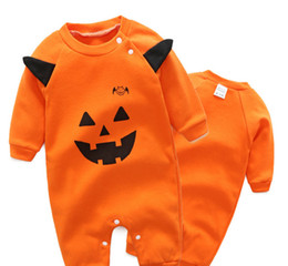 $enCountryForm.capitalKeyWord UK - Cotton Leotard Little Monster Pumpkin Infant Baby Autumn Paragraph Long-sleeved Jumpsuit Climbing Clothes