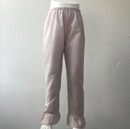 $enCountryForm.capitalKeyWord NZ - Baby Fashion Clothes Online Hot Sale Girl Stripe Seersucker Pants Children Girls Cheap Price Ruffle Baby Pants