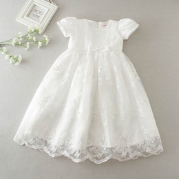 red tutu for newborn NZ - Retail 2017 New Baby Girls Princess Maxi Dresses Christening Gown Dresses Infantis for Newborn Birthday Party Baptism E9133