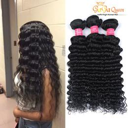 14 inch deep wave weave 2019 - Unprocessed 8A Brazilian Virgin Hair Deep Wave 3 Bundles Deep Curly Wave Bundles Brazilian Deep Human Hair Weave Bundles