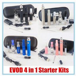 Discount e liquid vape pens - 4 in 1 Vaporizer kit Multi atomizers MT3 Single coils skillet glass CE3 wax dry herb oil e liquid 4in1 tank Vape Pen e c