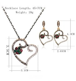 $enCountryForm.capitalKeyWord Canada - Hollow Love Heart Jewelry Sets Beautiful Valentine Party Choker Necklace Stud Earrings Sets maxi statement retro necklace sets