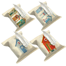 Discount house cars - Wholesale- Big House Decorate Tissue Boxes Fabric Linen Cover Car Home Office bathroom