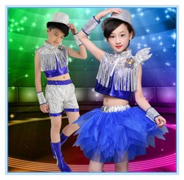 Barato Vestidos Latin Da Dança Do Sequin Do Salão De Baile-Hot sale Childrens Performance Stage Latin Salsa Ballroom Dance Sequins Tutu Dress Girls Kids Dancewear Costumes Dress