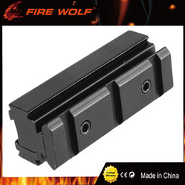 11mm mounts online shopping - FIRE WOLF Scope Base Adapter Converter mm to mm Weaver picatinny Rail Scope Mount Rifle Hunting Caze Accessories Black