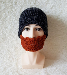 Discount knitted helmet - 2017 Popular beanie knit hat Bearded hat handmade wool helmet warm hats holiday stage Mens hat