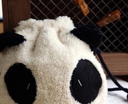 Wholesale Wrist Zipper Wallet Australia - Wholesale- Super Sweet Panda 20*18CM String Control Lady's Wrist Pouch BAG ; Wrist Phone Pouch ; Storage BAG Coin Purse & Wallet BAG Pouch