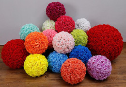 $enCountryForm.capitalKeyWord NZ - Flower ball 16Inch Wedding silk Pomander Kissing Ball decorate flower artificial flower for wedding garden market table centerpiece