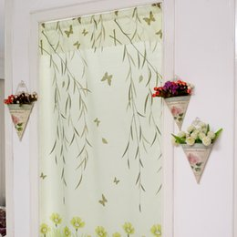Wholesale Luxury Kitchen Curtains Romantic Window Treatment Door Room Divider Eco Friendly Blackout Curtain JC0507