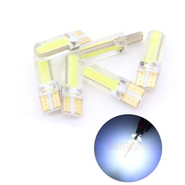 Car Led Side UK - w5w led white White 192 bulb 6000K yellow red led car auto lead T10 COB 18 smd Silica Gel Reverse Light License plate light Door lamp Marker