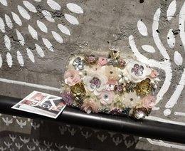 $enCountryForm.capitalKeyWord Canada - 2017 summer fashion women handbags Rhinestones message bags flower flap ladies single shoulder bags dress bags