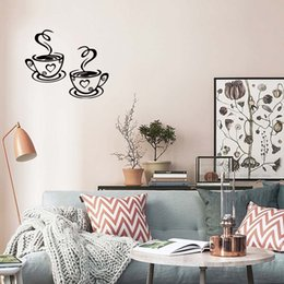$enCountryForm.capitalKeyWord Canada - New Product For 2 Coffee Cups Kitchen Wall Stickers Removable Cafe Vinyl Personality Art Decals Diy Graphics