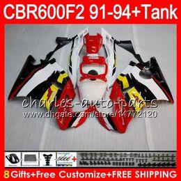 $enCountryForm.capitalKeyWord Canada - gloss white 8Gifts 23 Colors For HONDA CBR600F2 91 92 93 94 CBR600RR FS 1HM21 CBR 600F2 600 F2 CBR600 F2 1991 1992 1993 1994 blk red Fairing