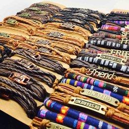 Großhandel Nagelneues Lederarmbandarmband der Kupferlegierung 20pcs harmlose Männer und Großhandelsart- und weisegeschenkpartei der Frauen