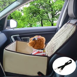 Seat Pet Cover ELR 1 Pcs 2-in-1 Champagne Front Waterproof Universal Car Dog Pat with 1 Pcs Pet Seat Belt for SUV Cars Trucks on Sale