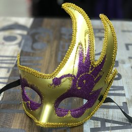 $enCountryForm.capitalKeyWord Australia - 100pcs lot Women Party Mask With Eye Shadow Venice Half Face Mask For Female Halloween Wear More Colors