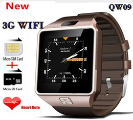 Wifi for phone calls online shopping - QW09 G Wifi Wristband Android inch G Smart Watch Phone MTK6572 GHz Dual Core MB RAM GB ROM Bluetooth SmartWatch